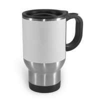 Thermo Tasse silber